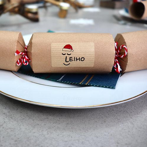 Eco-friendly Christmas Sock Crackers (Set of 2)
