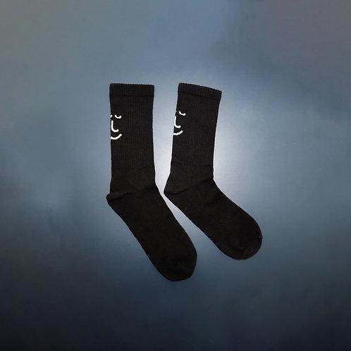 'Grab & Go' Black Ribbed Organic Cotton Socks