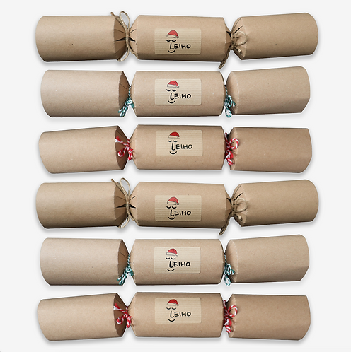 Eco-friendly Christmas Sock Crackers (Set of 6)