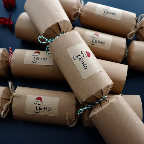 Eco-friendly Christmas Sock Crackers (Set of 5)