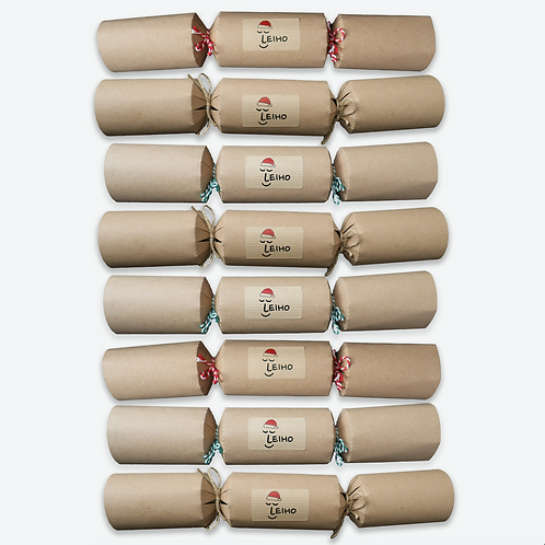 Eco-friendly Christmas Sock Crackers (Set of 8)