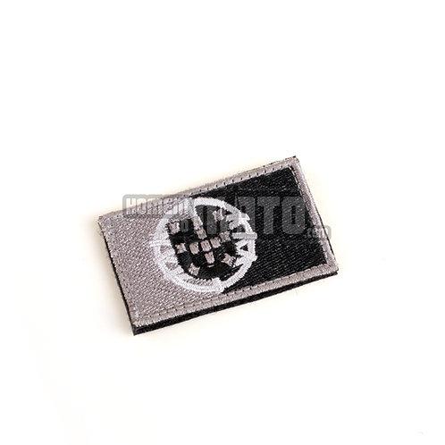 Bandeira Velcro Portugal Cinza 3x5