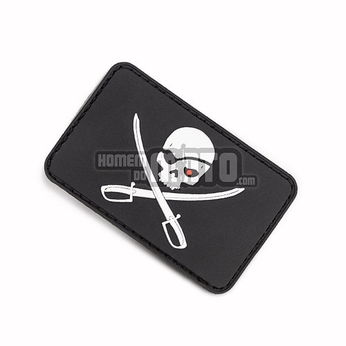 Patch PVC Pirate Skull Preto