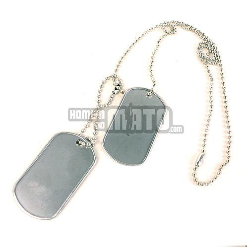 Chapas Militares, US Dog Tag, Silver