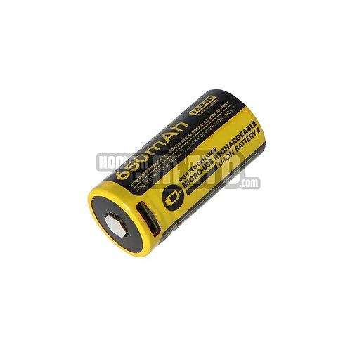 Bateria Nitecore 16340 USB 650 mAh