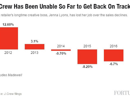J.Crew Creative Director Jenna Lyons Out After Years of Plummeting Sales