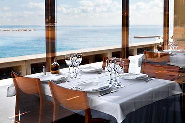 Restaurant on the beach. Early morning..