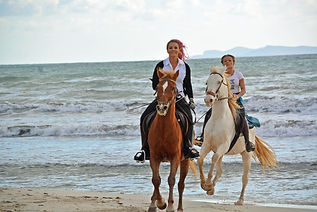Enjoy a horseback ride on the beach while vacationing at SEAcret Treasure in Rodanthe, NC.