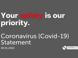 Coronavirus Statement: 18.01.2021