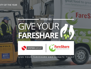 System Group are thrilled to announce our Charity of the Year and partnership with FareShare UK