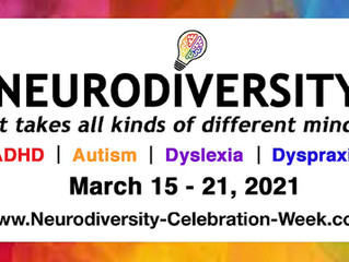 Neurodiversity Celebration Week (March 15 - 21, 2021)