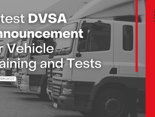 Latest DVSA Announcement for Vehicle Training and Tests
