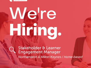 Stakeholder & Learner Engagement Manager   |   Northampton & Milton Keynes (Home-based)