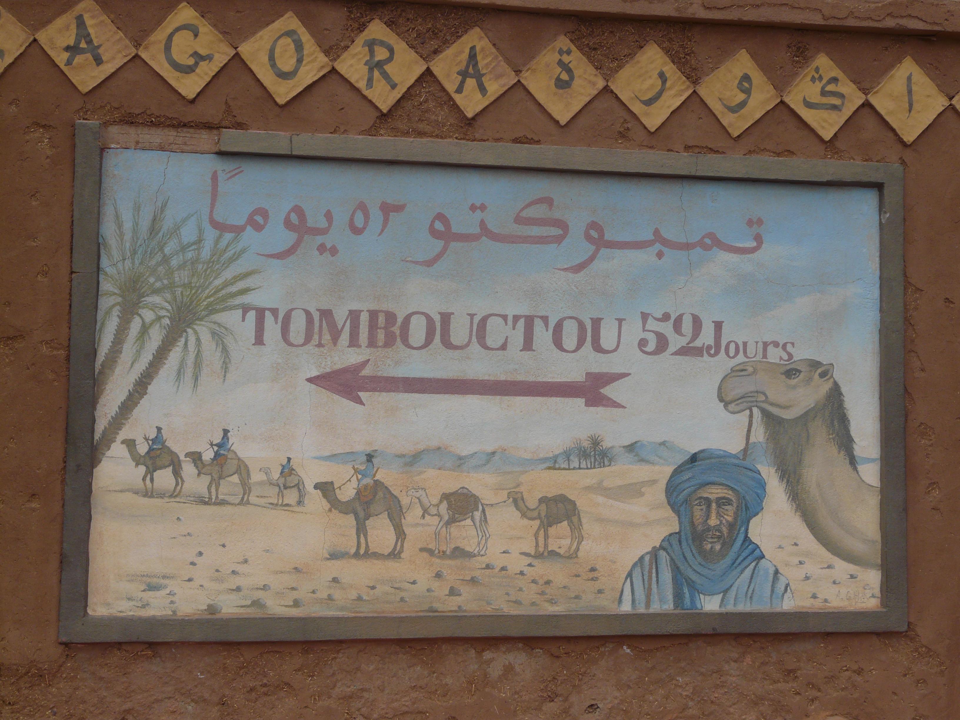 Zagora Tombouctou sign