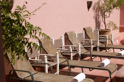 Transats terrace Riad El Youssoufi