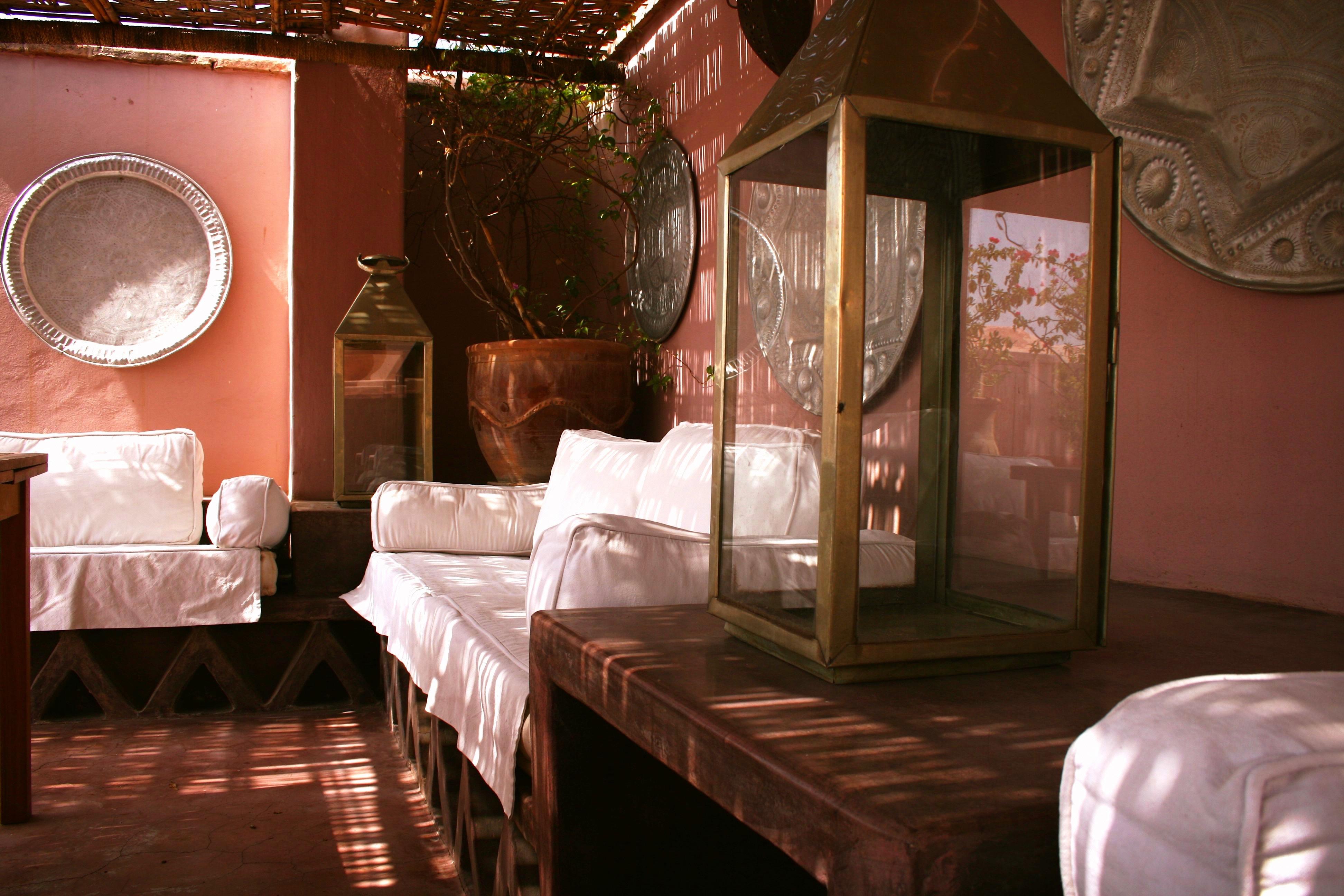 Salon terrasse Riad El Youssoufi