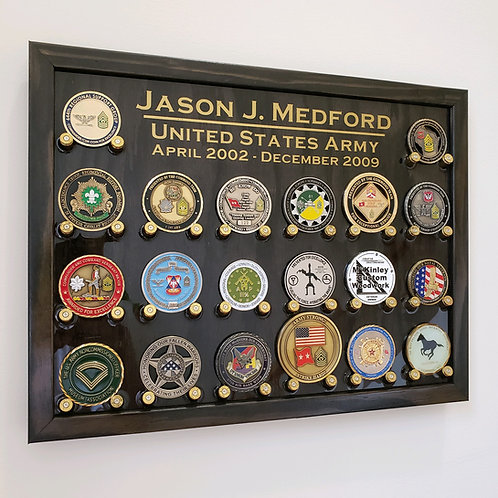 9mm Challenge Coin Display, 20ct