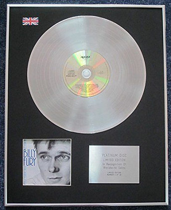 Billy Fury - CD Platinum LP Disc - In Thoughts Of You - The Best of.