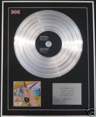 THE FEELING - Ltd Edtn CD Platinum Disc - TWELVE STOPS-