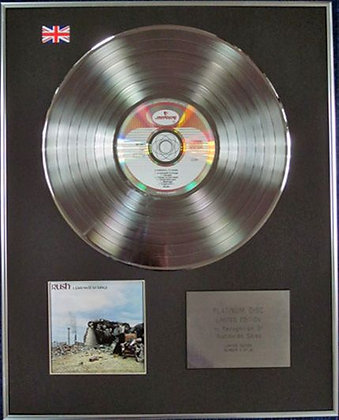 RUSH - Limited Edition CD Platinum Disc - A FAREWELL TO KINGS