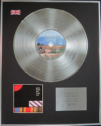 PINK FLOYD - Limited Edition CD Platinum Disc - THE FINAL CUT