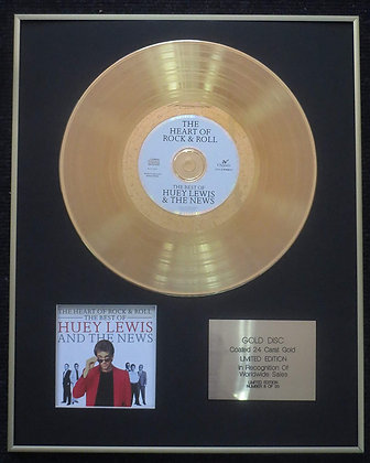 Huey Lewis and the Limited Edition 24 Carat Gold Disc -The Heart of Rock & Roll