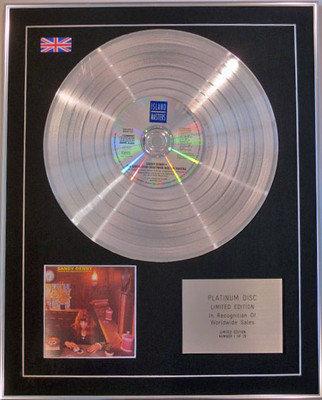 SANDY DENNY - Limited Edition CD Platinum Disc- THE NORTH STAR GRASSMAN & RAVENS