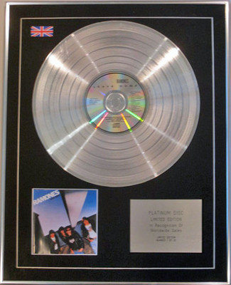 RAMONES - Limited Edition CD Platinum Disc - LEAVE HOME