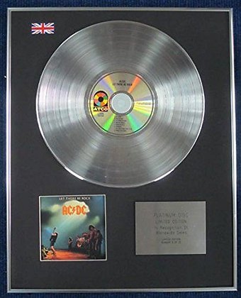 AC/DC - Limited Edition CD Platinum LP Disc - LET THERE BE ROCK
