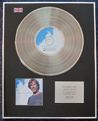 Kris Kristofferson - Limited Edition CD Platinum LP Disc - The Very Best of