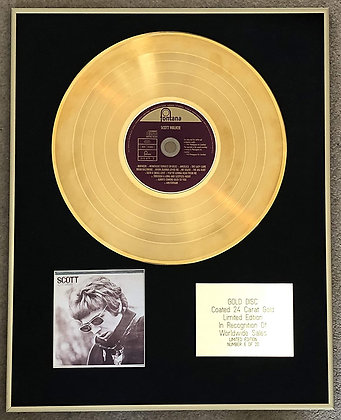 SCOTT WALKER - Limited Edition CD 24 Carat Gold Coated LP Disc - SCOTT