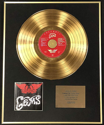 Aerosmith - Exclusive Limited Edition 24 Carat Gold Disc - Gems