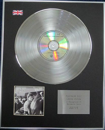 A-ha - Limited Edition CD Platinum Disc - HUNTING HIGH AND LOW