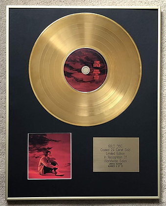 LEWIS CAPALDI - Exclusive Limited Edition 24 Carat Gold Disc - DEFINATELY UNISPI