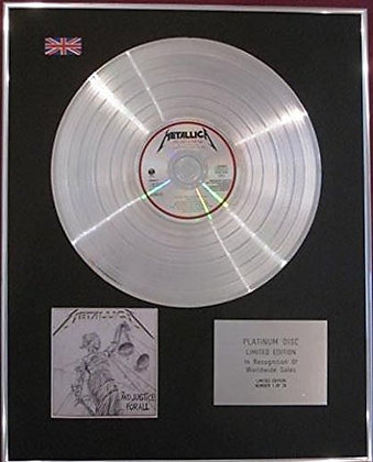 METALLICA - CD Platinum Disc - AND JUSTICE FOR ALL