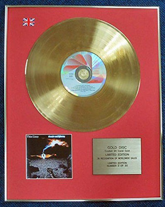 Thin Lizzy - LTD Edition CD 24 Carat Gold Coated LP Disc - Thunder and Lightning