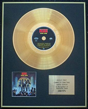 Kiss - Exclusive Limited Edition 24 Carat Gold Disc - Love Gun