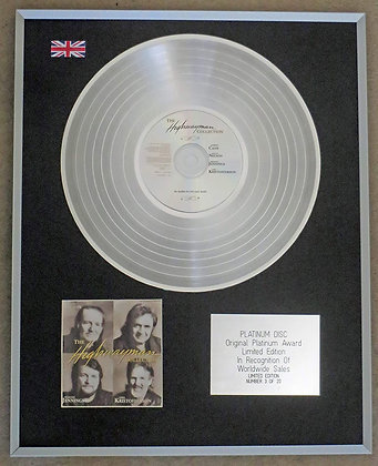 WILLIE NELSON - JOHNNY CASH etc - Limited Edition Platinum Disc - THE HIGHWAYMEN