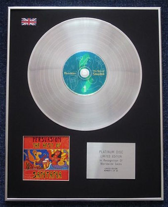 SANTANA - Limited Edition CD Platinum LP Disc - PERSUASION : THE BEST OF
