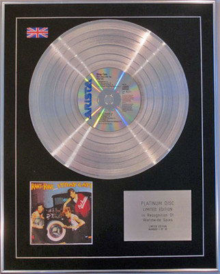STRAY CATS  - Limited Edition CD Platinum Disc - RANT N 'RAVE