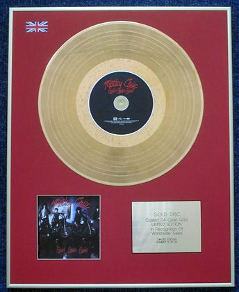 MOTLEY CRUE - CD 24 Carat Gold Coated LP Disc - GIRLS, GIRLS, GIRLS.