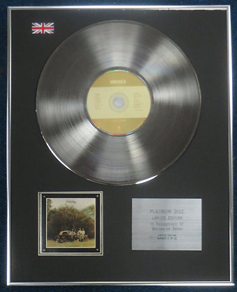 America - Limited Edition CD Platinum LP Disc - Holiday