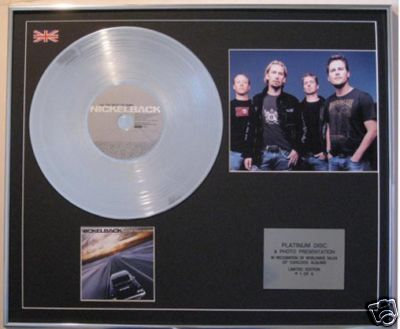 NICKELBACK-CD Platinum Disc+Photo-ALL THE RIGHT REASONS