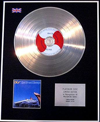 BLUR - CD Platinum Disc - THE GREAT ESCAPE