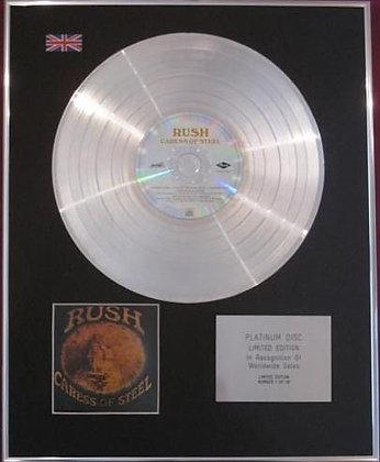 RUSH - CD Platinum Disc - CARESS OF STEEL