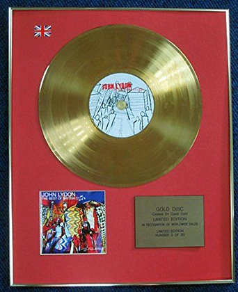 John Lydon - Limited Edition CD 24 Carat Gold Coated LP Disc - Best of