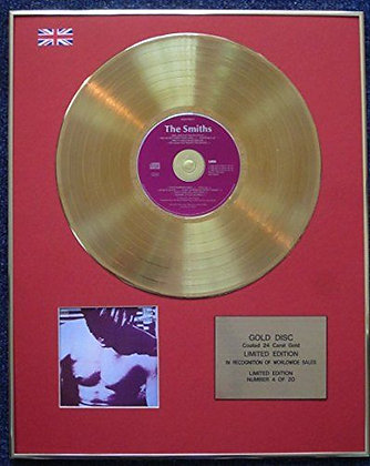 The Smiths - Limited Edition CD 24 Carat Gold Coated LP Disc - 'The Smiths'