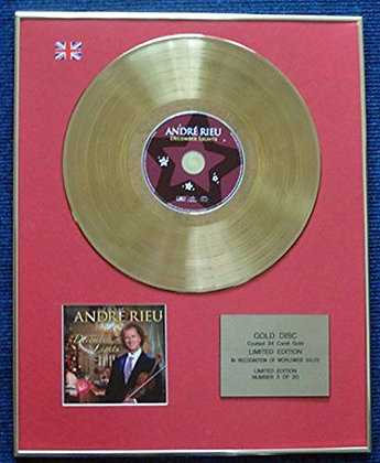 Andre Rieu - Limited Edition CD 24 Carat Gold Coated LP Disc - December Lights