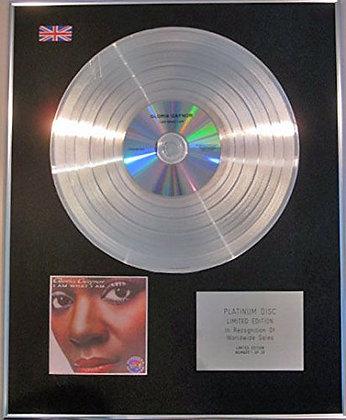 GLORIA GAYNOR - Limited Edition CD Platinum Disc - I AM WHAT I AM