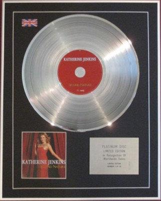 KATHERINE JENKINS - CD Platinum Disc - SECOND NATURE